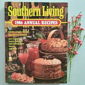 Southern Living 1986 Annual Recipes Vtg Cookbook